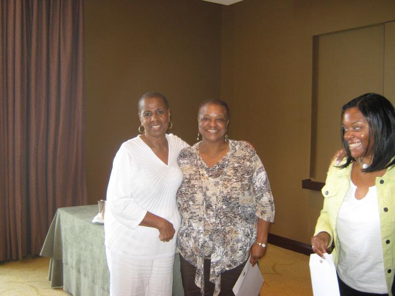 Dorothy Triplett and Dr. Cynthia Burwell, Norfolk State University